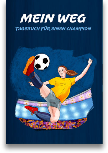 Fußball-Journal für Mädchen