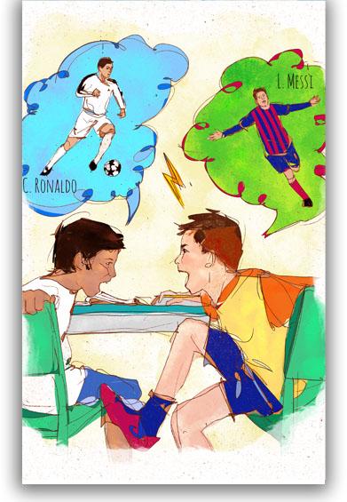 João quer ser o Messi - Messi or Ronaldo?