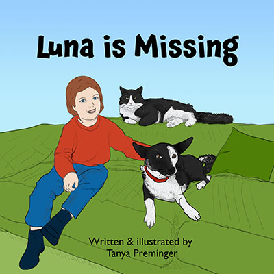 Luna is Missing- children's book about love to animals