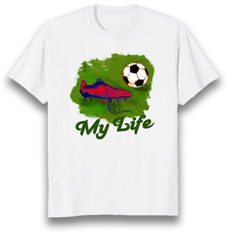 football is my life tshirt