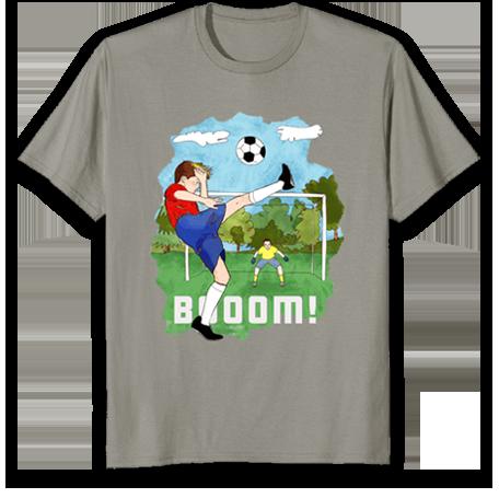 सुंदर फुटबॉल टी-शर्ट