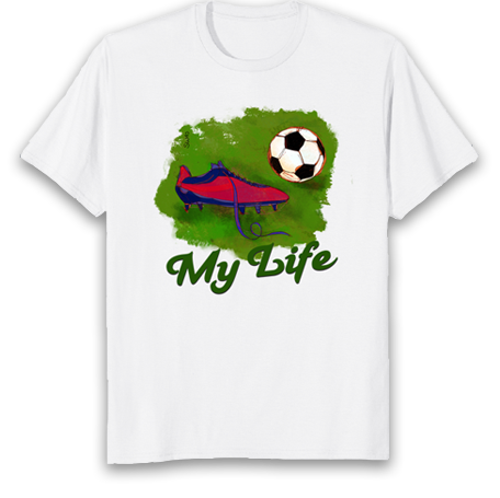 soccer is my life tshirt-gift for soccer fans