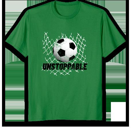 tee-shirt inarrêtable-soccer pour les garçons